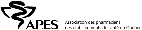 Logo A.P.E.S., version originale, noir (LADH)