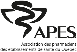 Logo A.P.E.S., version originale, noir (LADV)