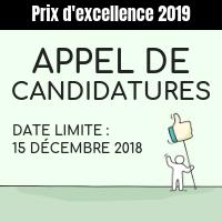 Appel de candidatures | prix d'excellence 2019